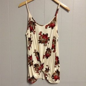 New! Cute Floral Tank Large